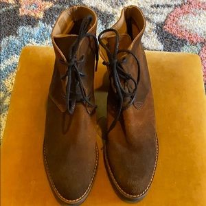Miista London Brown Suede Lace Up Booties Size 11